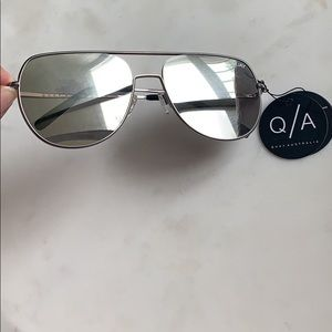 Quay Australia Silver mirrored sunglasses